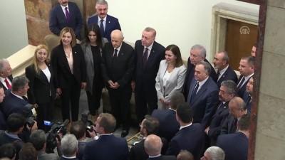 Cumhurbaşkanı Erdoğan, MHP Genel Başkanı Bahçeli ile bir araya geldi (4) - TBMM Haberi