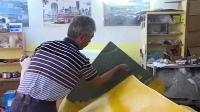 'Klasik araba' görünümlü koltuk takımı ve çalışma masası üretiyorlar - BURSA