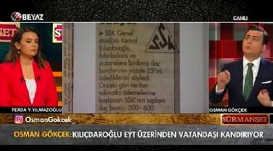 Osman Gökçek: 'Kılıçdaroğlu zamanında SSK ilaç paralarının 4'te birini ödeyebilmiş'