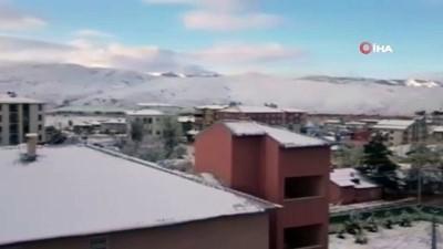 Erzurum beyaza büründü