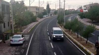 Jandarma ekiplerinden drone'lu yol uygulaması