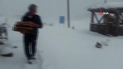 Rize'de kar kalınlığı 20 santime ulaştı