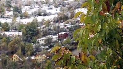Zigana Dağı beyaz gelinliğini giydi..Kar kalınlığı 20 santimetreyi aştı