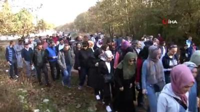 600 öğretmen doğa yürüyüşü yaptı