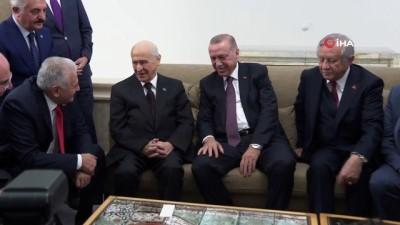 grup toplantisi -  Cumhurbaşkanı Erdoğan, MHP lideri Bahçeli ile görüştü