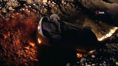 Kontrolden çıkan otomobil takla atıp araziye yuvarlandı: 1 yaralı