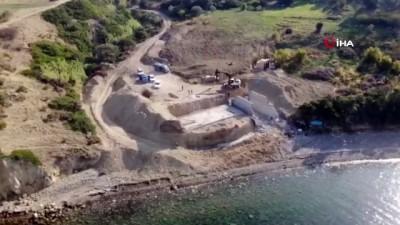Sit alanına yapılan inşaatta yıkım başladı