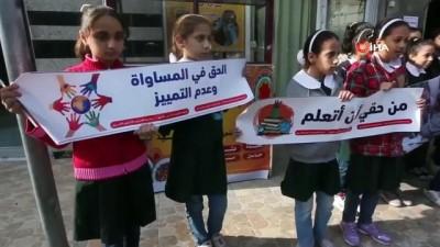 - Filistinli çocuklar İsrail'i protesto etti
