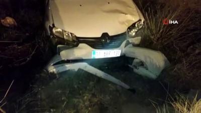 Hatay'da otomobil şarampole devrildi: 2 yaralı Video