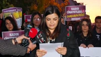 Katledilen üniversiteli Güleda'nın apartı önünde eylem Video