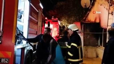 Tek katlı evde çıkan yangın paniğe neden oldu Video