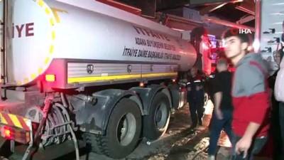 Adana'da iki iş yeri alev alev yanarak küle döndü
