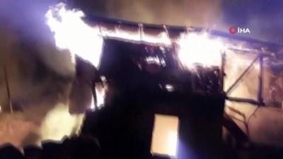 cami imami -  Gece çıkan yangın 6 evi küle çevirdi