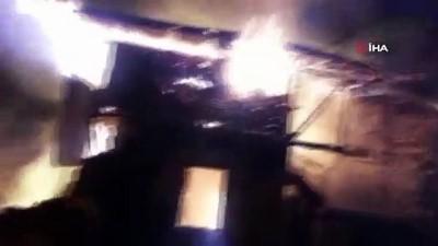 cami imami -  Gece çıkan yangın 7 evi küle çevirdi