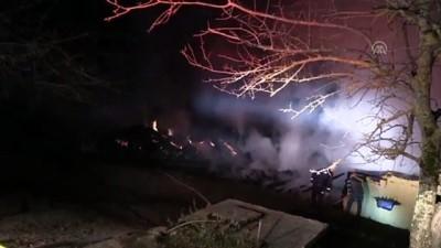 Bartın'da 2 ev yandı