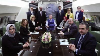 Cumhurbaşkanı Erdoğan, Katar dönüşü uçakta açıklamalarda bulundu