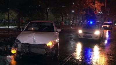 Polisten kaçan şahıslar kaza yaptı