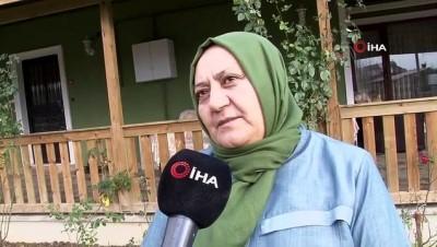 Çatalca'da başörtülü kadına saldırı anı kamerada