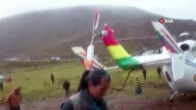 devlet baskanligi -  - Bolivya Devlet Başkanını taşıyan helikopter acil iniş yaptı