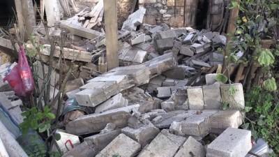 İnşaat halindeki binanın balkonu çöktü: 1 yaralı - ORDU
