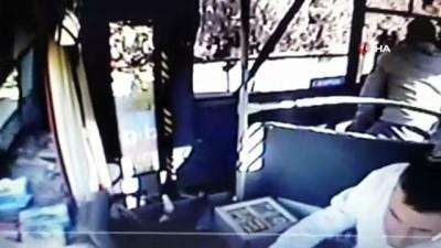 Engelli kartıyla otobüse binen şahıs şoföre böyle saldırdı