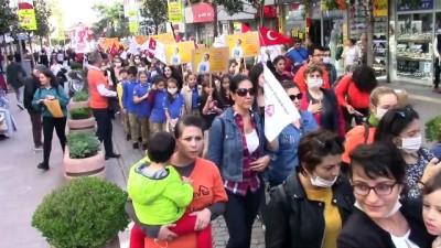 Lösemi hastaları için 'maskeli yürüyüş' - BALIKESİR