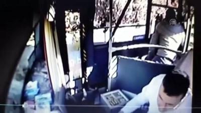 Yolcunun otobüs şoförüne saldırısı kamerada - NİĞDE
