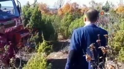 Emet'te orman yangını