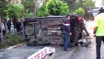 Ortalığın savaş alanına döndüğü kazadan sürücü yaralı kurtuldu