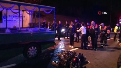 cenaze arabasi -  Cenaze aracına motosiklet arkadan çarptı: 1'i ağır 5 yaralı