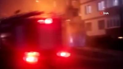 Seyir halindeki halk otobüsü alev alev böyle yandı
