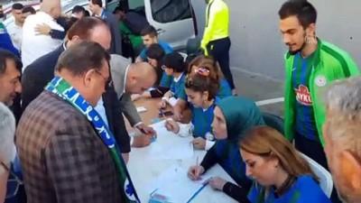 Çaykur Rizespor Kulübü Yönetim Kurulu ve taraftarlardan organ bağışı - RİZE