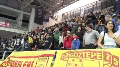 Göztepe-Karşıyaka voleybol maçı - Olaylar nedeniyle tribünlerin boşaltıldı - İZMİR