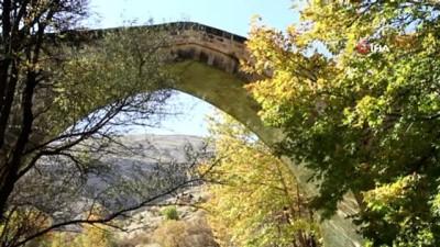 Mimarisiyle Mostar Köprüsü'ne benzetilen Tağar Köprüsü'nde sonbahar şöleni