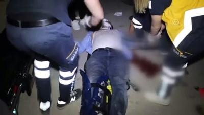 Motosiklet ile otomobil çarpışması sonucu 1 kişi yaralandı - ADANA