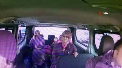 Boğazına şeker kaçan çocuğu şoför kurtardı...O anlar kamerada