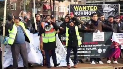 Hollanda'da Arakanlı Müslümanlardan destek gösterisi - LAHEY