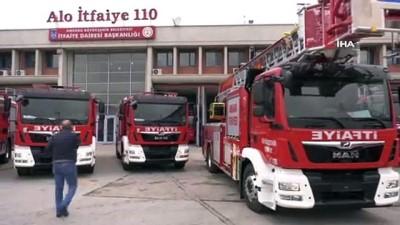 Ankara itfaiyesine 7 yeni araç