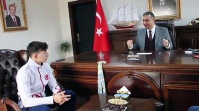 Avrupa şampiyonu halterci Yusuf Fehmi Genç, altınla ödüllendirildi - ORDU