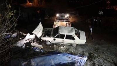 Devrilen otomobilin sürücüsü yaralandı - KARABÜK