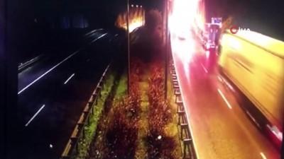 Ordu'da tünel girişindeki feci kaza kamerada