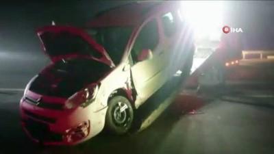 Tekirdağ'da yoğun sis kazayı da beraberinde getirdi: 1'i bebek 5 yaralı