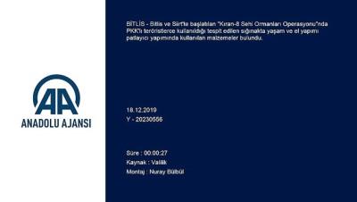 Bitlis ve Siirt'teki 'Kıran-8 Sehi Ormanları Operasyonu'
