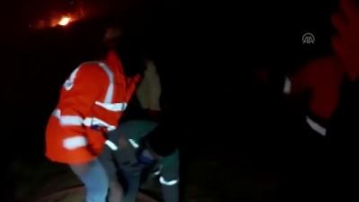 Arsin'deki örtü yangınlarını söndürme çalışmaları sürüyor - TRABZON