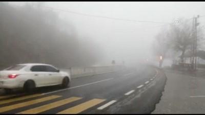 Bolu Dağı'nda sağanak ve sis etkili oluyor - DÜZCE