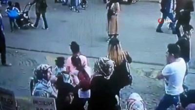 Ümraniye'de kadını döven şahsa vatandaştan meydan dayağı kamerada