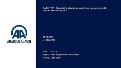 yazili aciklama - 221 kilogram esrar ele geçirildi - Gözaltına alınan 2 zanlı tutuklandı - GAZİANTEP