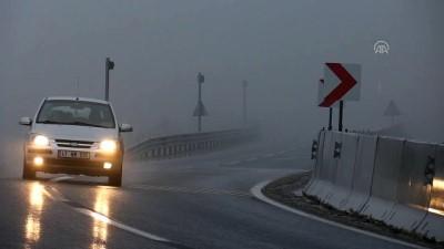 Bolu Dağı'nda sis etkili oluyor - DÜZCE