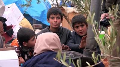 yazili aciklama - İdlib'den göç eden aileler çadırlara yerleştiriliyor