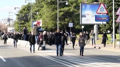 Karadağ'daki Ortodoks Sırplardan ayinli protesto - PODGORİCA